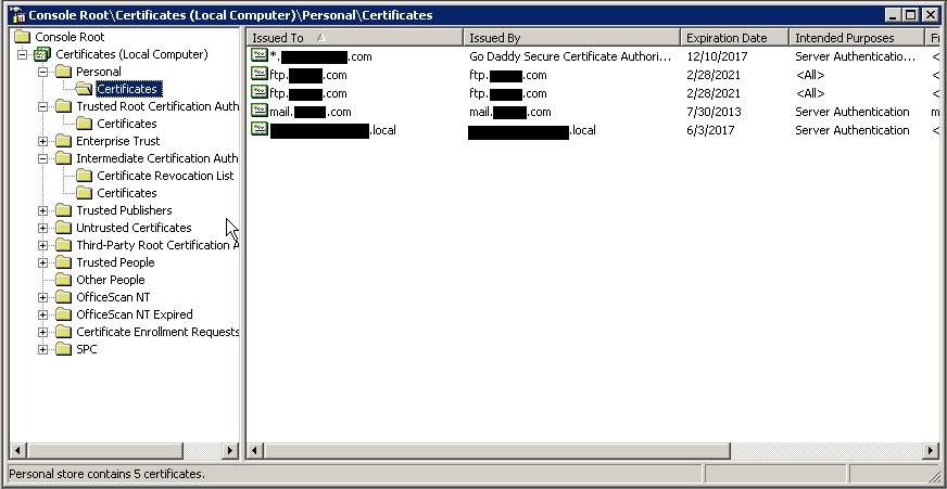 Windows Server 2003: Import a Certificate into MMC | | Tech